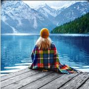 """Набор для выкладывания мозаики Алмазная живопись """"Девушка у озера"""""""