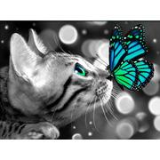 """Набор для выкладывания мозаики Алмазная живопись """"Бенгал и бабочка"""""""