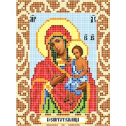 """Канва/ткань с нанесенным рисунком Божья коровка """"Богородица воспитательница"""""""