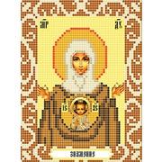 """Ткань с рисунком для вышивки бисером Божья коровка """"Богородица Знамение"""""""