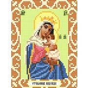 """Ткань с рисунком для вышивки бисером Божья коровка """"Богородица Отчаянные Единая Надежда"""""""