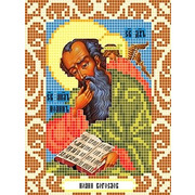 """Ткань с рисунком для вышивки бисером Божья коровка """"Святой Иоанн Богослов"""""""