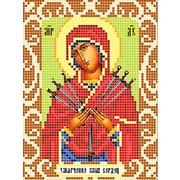 """Ткань с рисунком для вышивки бисером Божья коровка """"Богородица Умягчение Злых Сердец"""""""