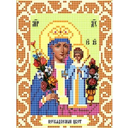 """Ткань с рисунком для вышивки бисером Божья коровка """"Богородица Неувядаемый цвет"""""""