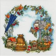 """Набор для вышивания крестом Золотое Руно """"Осенние письма"""""""
