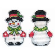 """Набор для вышивания гладью Овен """"Снеговик.Елочная игрушка"""""""