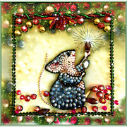 """Набор для вышивания хрустальными бусинами Образа в каменьях """"Мышка-соберушка"""" (к прибавлению богатства)"""