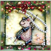 """Набор для вышивания хрустальными бусинами Образа в каменьях """"Мышка-шалунишка"""""""