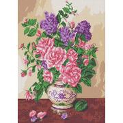 "Канва/ткань с нанесенным рисунком Каролинка ""Запах роз"""