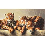 """Набор для вышивания крестом Letistitch """"Леопарды"""""""