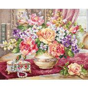 """Набор для вышивания крестом Алиса """"Розы в гостиной"""""""