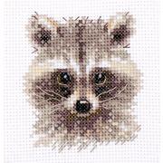 """Набор для вышивания крестом Алиса """"Животные в портретах. Енотик"""""""