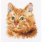 """Набор для вышивания крестом Алиса """"Животные в портретах. Рыжий кот"""""""