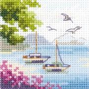 """Набор для вышивания крестом Алиса """"Вид на море"""""""