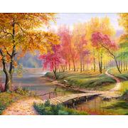 """Набор для выкладывания мозаики Алмазная живопись """"Осень в старом парке"""""""