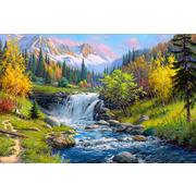 """Набор для выкладывания мозаики Алмазная живопись """"Горный ручей"""""""