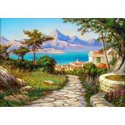 """Набор для выкладывания мозаики Алмазная живопись """"Город у моря"""""""