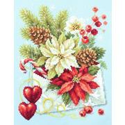 """Набор для вышивания крестом Чудесная игла """"С Рождеством"""""""