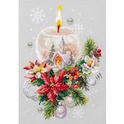 """Набор для вышивания крестом Чудесная игла """"Рождественская свеча"""""""