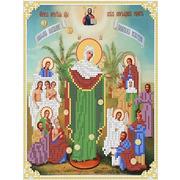 """Канва/ткань с нанесенным рисунком Каролинка """"Богородица Всех Скорбящих Радость"""""""