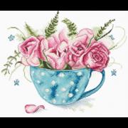 """Набор для вышивания крестом Letistitch """"Чашка роз"""""""