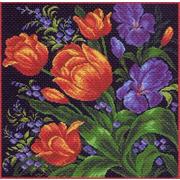 """Набор для вышивания крестом Матрёнин посад """"Тюльпаны"""""""