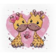 """Набор для вышивания крестом Овен """"Влюбленные жирафики"""""""