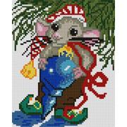 """Ткань с рисунком для вышивки бисером Конёк """"Мышка"""""""