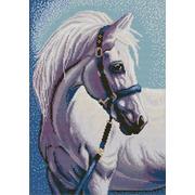 """Канва/ткань с нанесенным рисунком Конёк """"Белая лошадь"""""""
