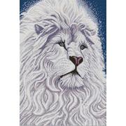 """Канва/ткань с нанесенным рисунком Конёк """"Белый лев"""""""