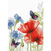 """Набор для вышивания крестом Luca-S """"Маки и бабочки"""""""