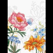 """Набор для вышивания крестом Luca-S """"Цветы и бабочки"""""""