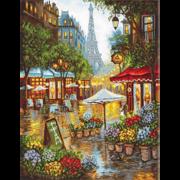 """Набор для вышивания крестом Letistitch """"Весенние цветы. Париж"""""""