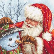 """Набор для вышивания крестом Letistitch """"Дед Мороз и снеговик"""""""