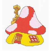 """Набор для вышивания крестом Овен """"Домик - грибок"""""""