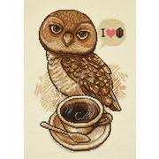 """Набор для вышивания крестом Овен """"Любительница кофе"""""""