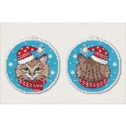 """Набор для вышивания крестом Овен """"Новогодний кот"""""""
