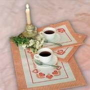 """Набор для вышивания крестом Овен салфеток """"Чай вдвоем"""""""