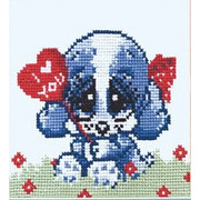 """Набор для вышивания крестом Овен """"Собачка с сердцем"""""""