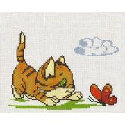 """Набор для вышивания крестом Палитра """"Котенок с бабочкой"""""""