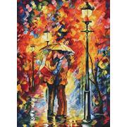 """Набор для вышивания крестом Белоснежка """"Поцелуй под дождем"""""""