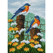 """Набор для выкладывания мозаики Вышиваем бисером """"Птицы и цветы"""""""