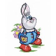 """Набор для вышивания крестом М.П. Студия """"Заяц с цветами"""""""