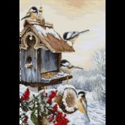 """Набор для вышивания крестом Luca-S """"Птичий домик"""""""