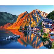"""Набор для выкладывания мозаики Алмазная живопись """"Закат в Альпах"""""""