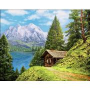 """Набор для выкладывания мозаики Алмазная живопись """"Домик в горах"""""""