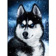 """Набор для выкладывания мозаики Алмазная живопись """"Хаски в снегу"""""""