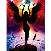 """Набор для выкладывания мозаики Алмазная живопись """"Темный ангел"""""""
