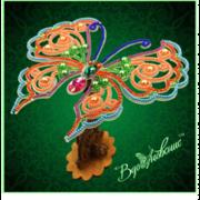 """Набор для вышивания бисером Вдохновение """"Ажурная бабочка 082"""""""
