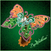"""Набор для вышивания бисером Вдохновение """"Ажурная бабочка 083"""""""